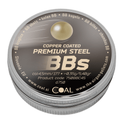 Premium Steel BB's copper c. 4.5 / .177